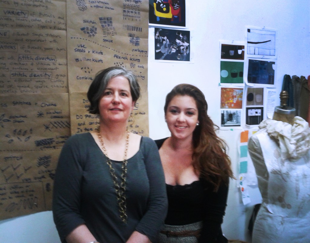 International visiting artist - Maxine Sutton and Summer Student Resident - Leticia Jorge