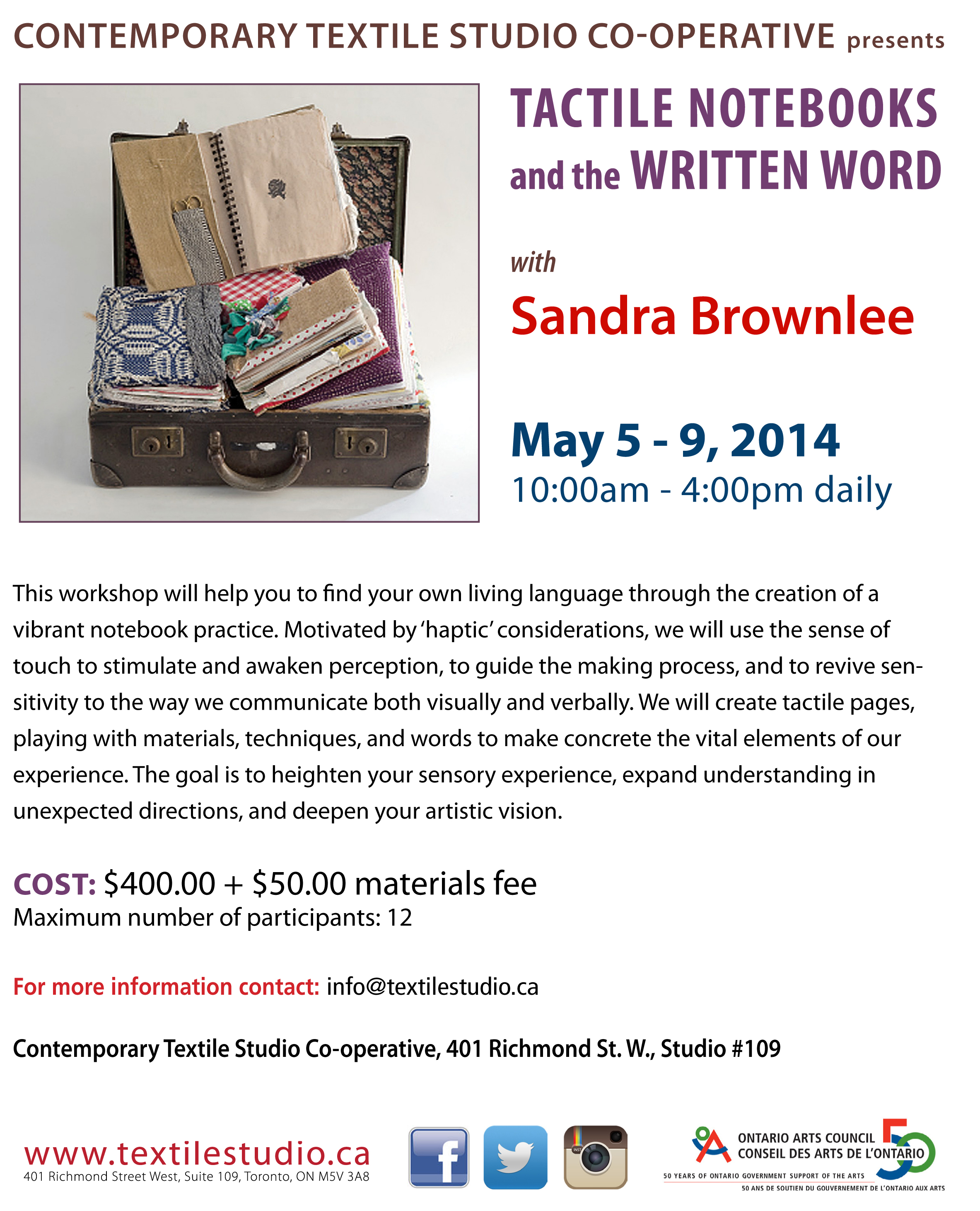Sandra Brownlee workshop